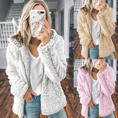 Fleece, jackets for women, Winter, Long Sleeve