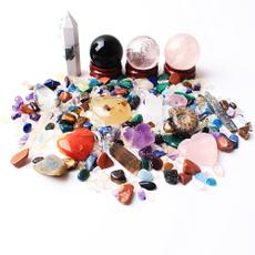 howlite, quartz, Pouch, crystalball