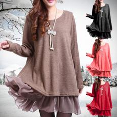 cute, Plus Size, Winter, Sweaters