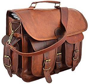 bruin, menslaptopbag, Vintage, Tassen