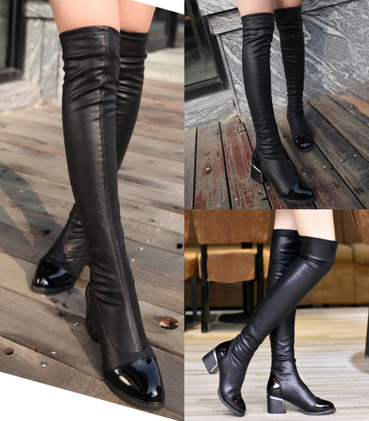 Knee High Boots, Fashion, Leather Boots, Womens Shoes