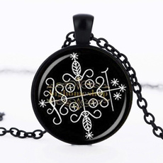 25mmglasscabochon, 25mm, Jewelry, glasscabochonnecklacependant