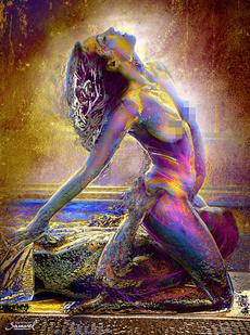 Woman, art, oilpaintingprint, nude