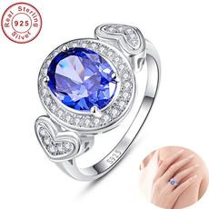 Sterling, Fashion, 925 silver rings, Blue Sapphire