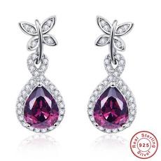 butterfly, Sterling, Dangle Earring, Jewelry