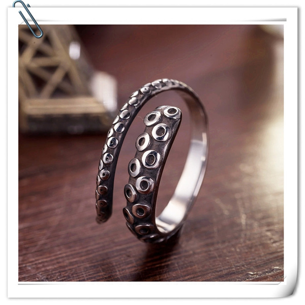 Steel, nonmainstreamring, Jewelry, octopusring