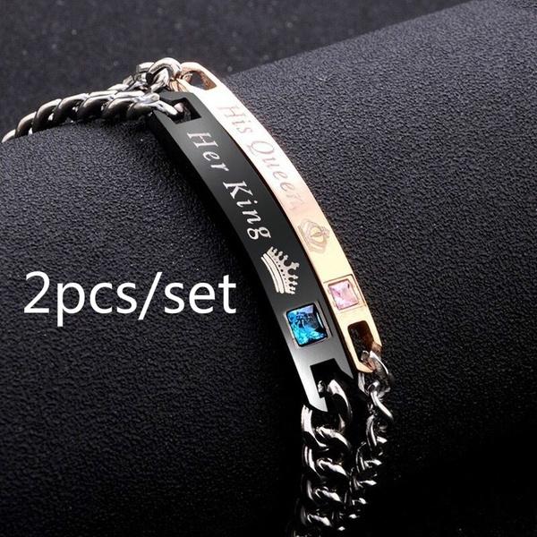 Charm Bracelet, King, Wristbands, titanium