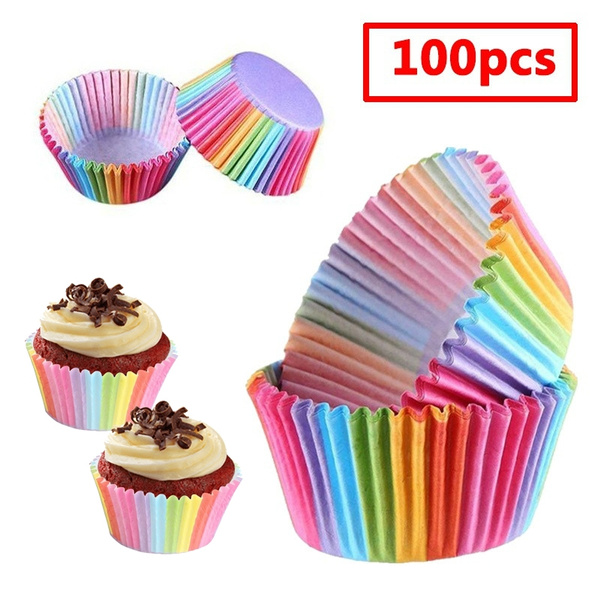 cupcakesupplie, rainbow, muffincup, Home Decor