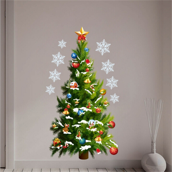 Christmas Wall Stickers Large Christmas Tree Sticker Removable Sticker Home Decor Wish