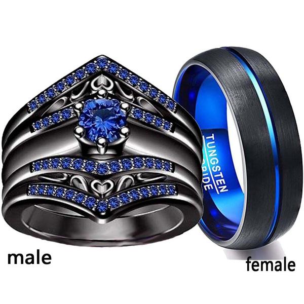 Couple Rings, Blues, wedding ring, Engagement Ring
