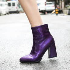 short boots, gold, chunkyheel, Dress