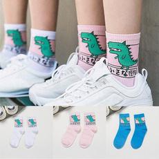 cute, Dinosaur, Cotton Socks, Women