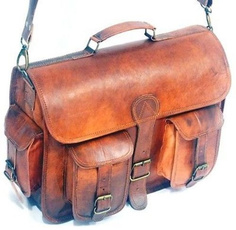 Briefcase, leather briefcase, crossbodyshoulderbag, Men