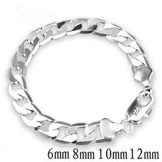 Sterling, 8MM, Chain bracelet, Jewelry