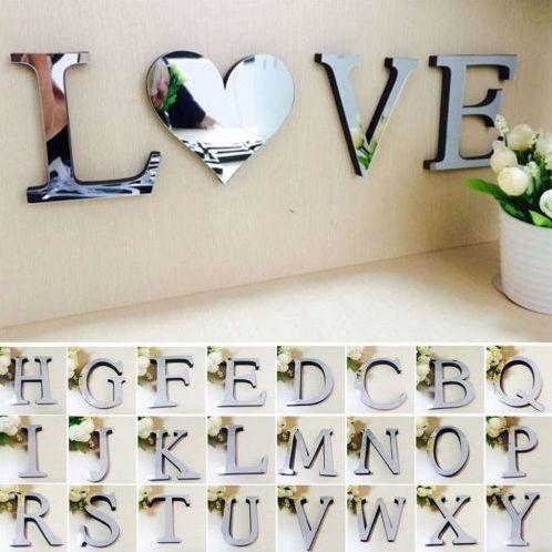 Decor, art, alphabetsticker, Home & Living