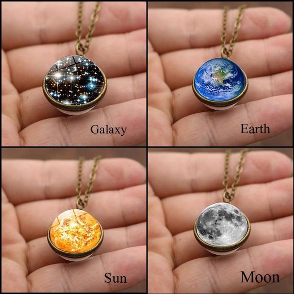 spacejewelry, planetpendant, Jewelry, Glass