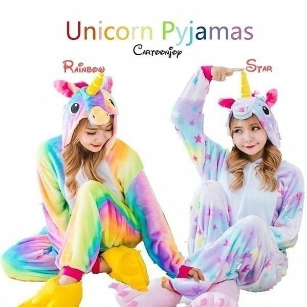 women's pajamas, warmwinterpajama, Winter, cosplaycostumecartoonanimalonepiecesleepwear