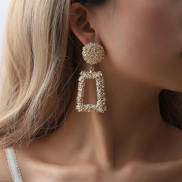 Fashion, Jewelry, vintage earrings, gold