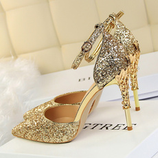 Sandals, gold, Womens Shoes, Metal