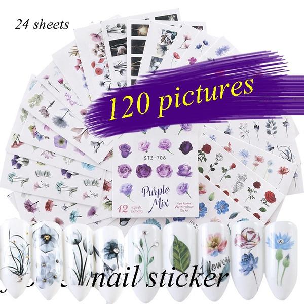 nail decoration, nailwatertransferdecal, nail stickers, flamingo