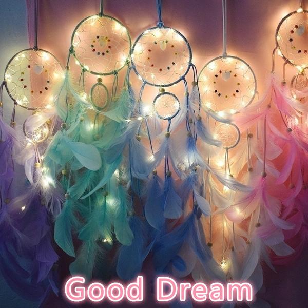 bedroomlight, Home Decor, Dreamcatcher, lights