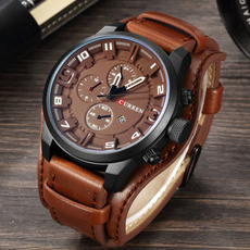 Fashion, Waterproof Watch, Gifts, leather strap