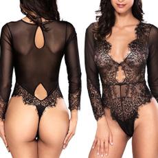 sleeve v-neck, women's pajamas, Underwear, Lace