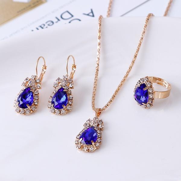 Engagement Wedding Ring Set, wedding ring, Bridal Jewelry Set, engagementjewelry