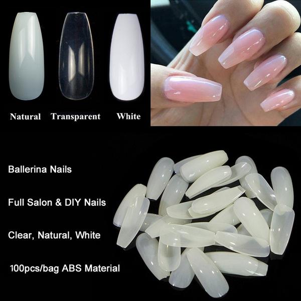 ballerina, acrylic nails, nail tips, Beauty