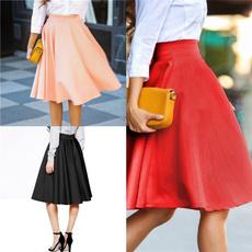 long skirt, office dress, high waist, Vintage