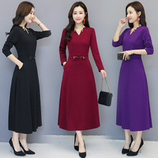 slim dress, slimandlongsleevedbottomingdres, slim, fallgirl