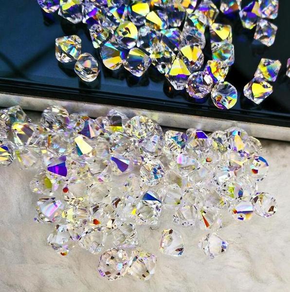 4mmcrystalcubebead, crystal pendant, charmbead, crystalbead