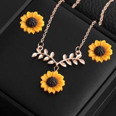 Beautiful, Chain Necklace, Moda, leaf