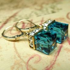 Sterling, Fashion, Gemstone Earrings, gold
