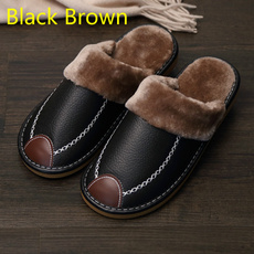 Indoor, Slippers, mensleatherslipper, menslipperswinter