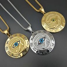 Steel, mens necklaces, eye, Jewelry