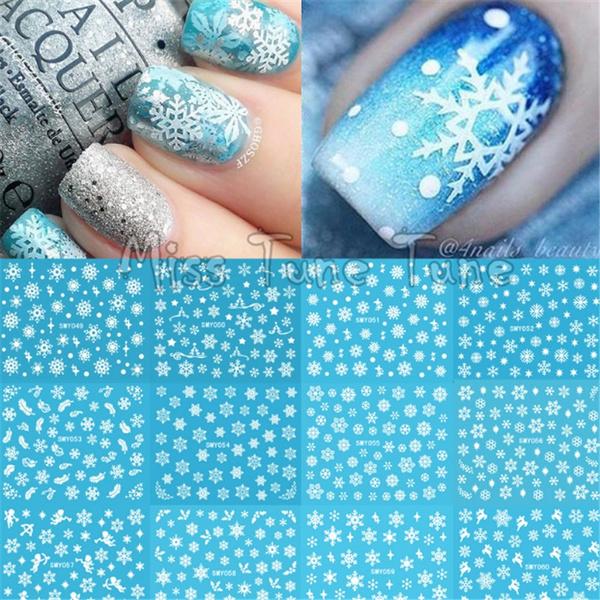nail decoration, nail stickers, art, Christmas
