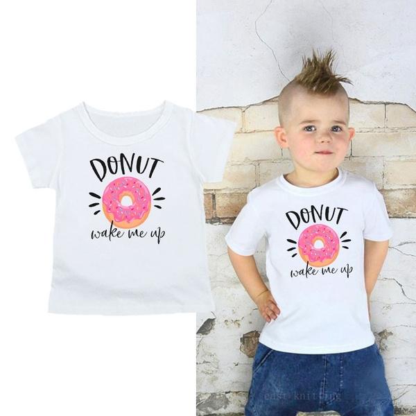 Funny, Fashion, babyshirt, donutwakemeupshirt