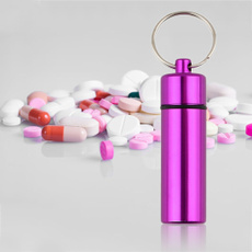 pillbox, Key Chain, Aluminum, Waterproof