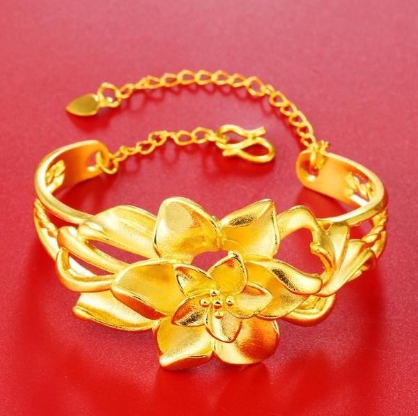 yellow gold, 18k gold, Wristbands, Gold Bangle