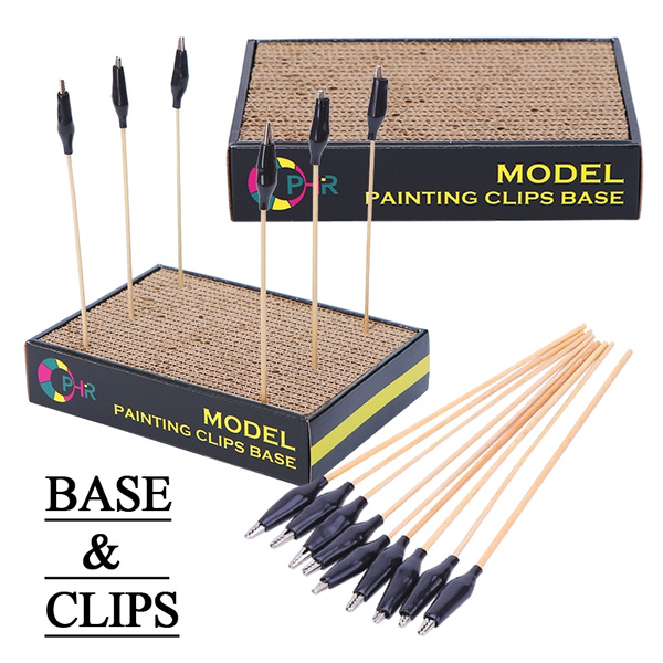 DIY Modell Malerei Farbe Clips Farbclip Halter Lackierständer für Airbrush