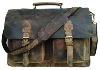 18inchleatherlaptopbag, Briefcase, Office, Bags