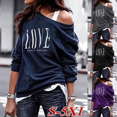 blouse, blousesforwomen, Sleeve, one-shoulder