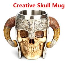 Steel, Coffee, skullmug, Medieval