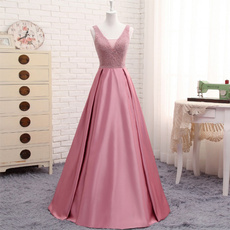 pink, gowns, promgown, A-line