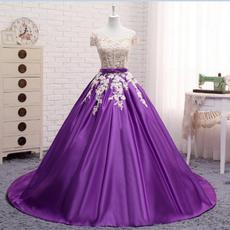 Plus Size, Lace, purple, Evening Dress