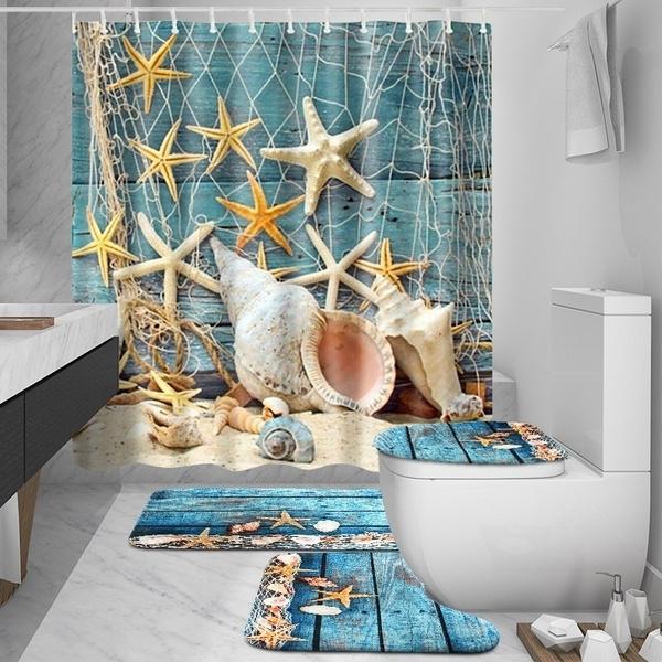 Blues, Bathroom, bathroomdecor, starfish