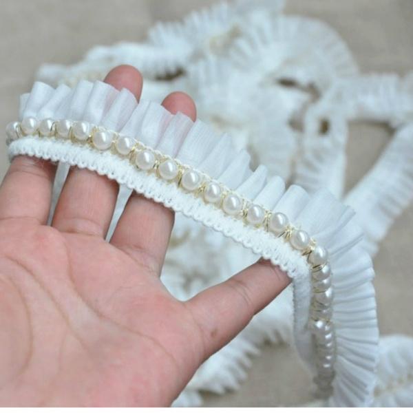 ruffledfabric, lace trim, Lace, lacefringetrim