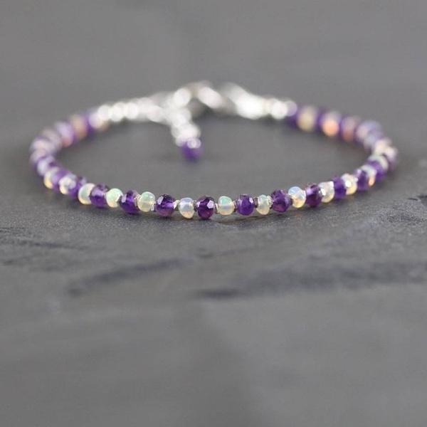 Beaded Bracelets, Jewelry, tanzanitebracelet, opals