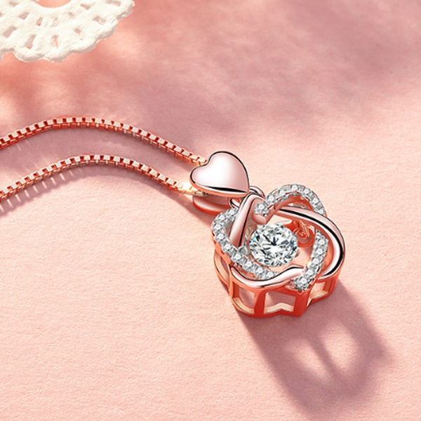 White Gold, Heart, aaazircon, lover gifts
